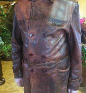 Пиджак из кожи бизона