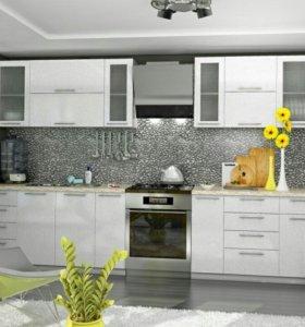 Кухня модульная Олива МДФ Белая