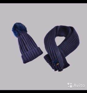 Набор шапка/шарф для девочек miss blumarine jeans