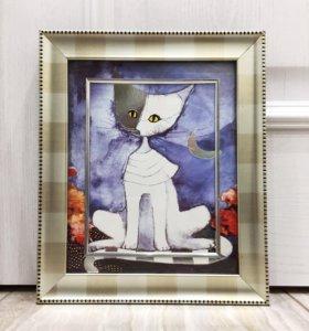 Картина кошка