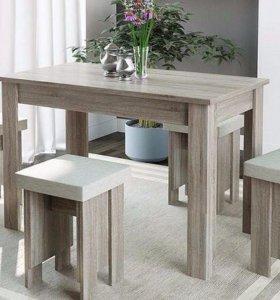 Обеденная группа (стол и 4 табурета)