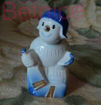 Приз Известий. Снеговик. Фарфор. Дулево.