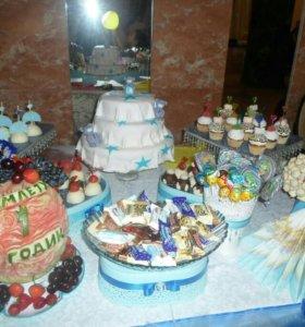 Фуршет; сладкий стол;карвинг