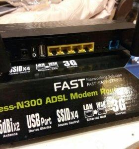 Беспроводной роутер Asus DSL-N12U n300 3G