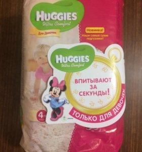 Подгузники Huggies ultra comfort для девочек 4+