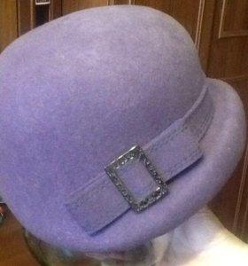 Шапка фетровая фиолетовая