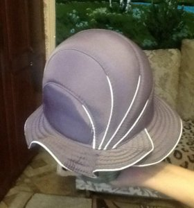 Шляпа плащевая сиреневая