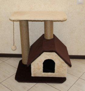 Когтеточка + домик+лежанка+игрушка