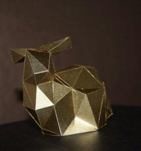 Золотой зайчик Корри (handmade decor)