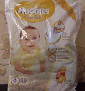 Подгузники Huggies Elite Soft 3 на 5-9 кг