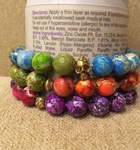 Комплект браслетов ручной работы