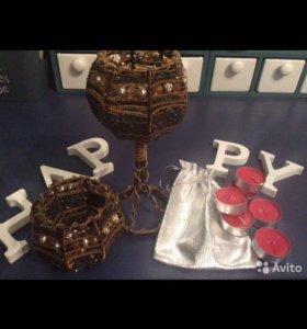 Подсвечники красивые,свечки в подарок