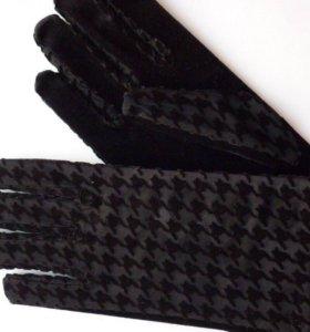 Новые перчатки велюр