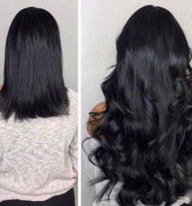 Волосы чёрные для наращивания