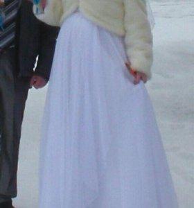 Свадебная Шубка и платье