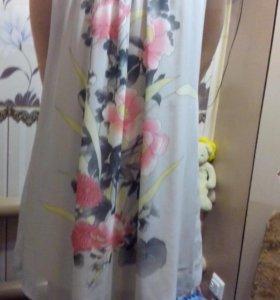 Платье шифон( с подкладом),лёгкое