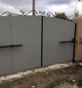 Ворота откатные, секционные, автоматика для ворот