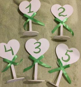 Номера для столов на свадьбу