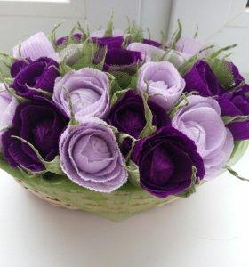 Корзинка с цветами/ подарок