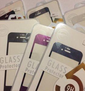 Защитные 3D стекла на айфон4/4s;5/5s/5c и т.п.