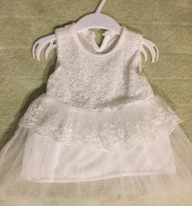 Платье на малышку на 3-6 мес.