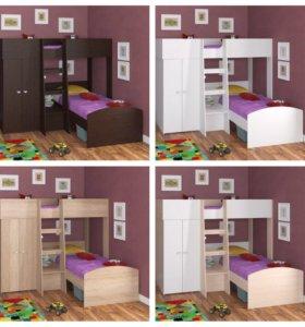НОВАЯ Двухъярусная кровать Golden kids 4