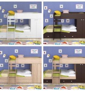 НОВАЯ Двухъярусная кровать Golden kids 2