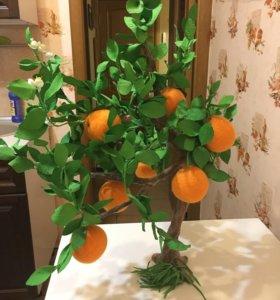 Дизайнерское апельсиновое дерево