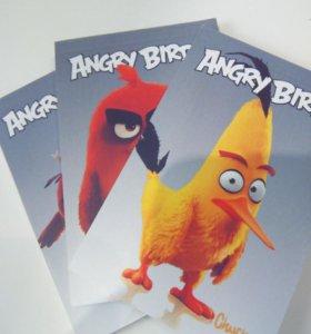 Блокноты Angry Birds (сердитые птички) 3 штуки