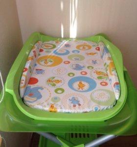 Пеленальный столик с ванночкой новый