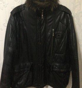 Мужская зимняя куртка (натуральная кожа)
