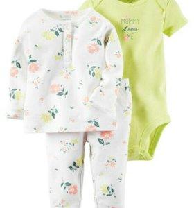 Новый комплект Carters (боди и дом.костюм/пижама)