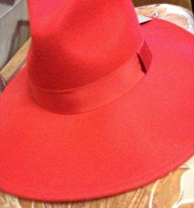 Шикарная фетровая дамская шляпа. Размер 54.