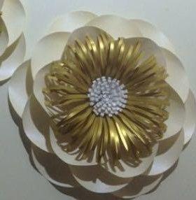 Объёмные цветы из дизайнерской бумаги