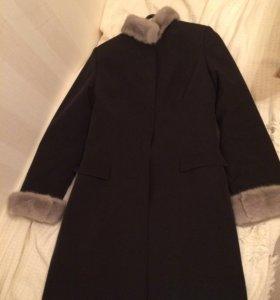Зимний плащ-пальто