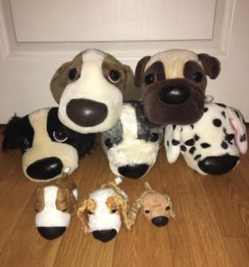 Собачки с большими носиками,плюшевые щенки,игрушки