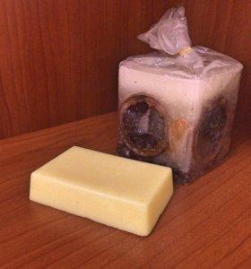 Лимонное скраб-мыло