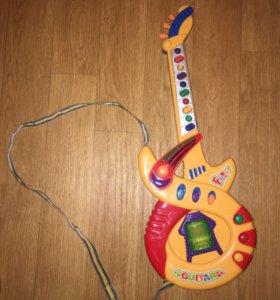 Гитара детская, игрушечная электро-гитара