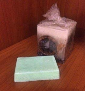 Яблочное мыло-скраб