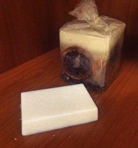 Мыло-скраб с кокосом
