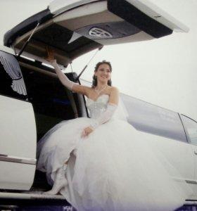 Шикарное свадебное платье. Корсет Сваровски