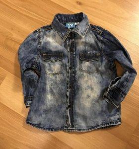 Джинсовая рубашка 80 р
