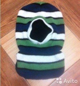 Шапка шлем на флисе. Шерсть. Зима. 48-50 размер