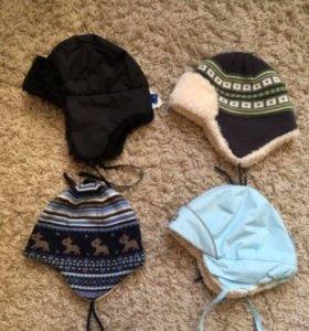 Теплые шапочки для мальчика