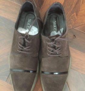 Туфли мужские замшевые новые!