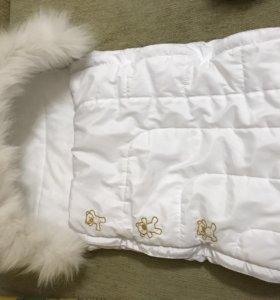 белый конверт на выписку или в коляску
