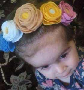 Повязка с розами для девочек
