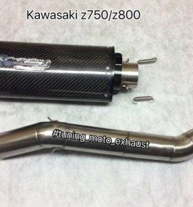 Прямоток two brothers Kawasaki z750/z800