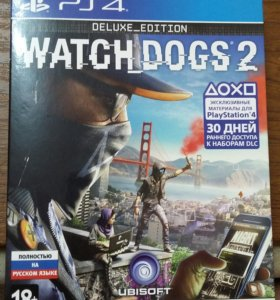 Watch dogs 2. Delux. PS4. Обмен, продажа.