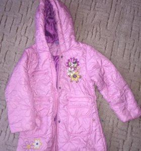 Пальто для девочки весна/осень 6 лет
